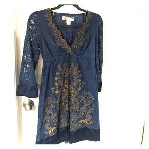 New Flying Tomato Blue Lace Dress